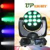 고성능 12PCS 10W RGBW 4in1 LED 광속 점화
