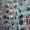 Tissu en cuir synthétique brillant Mg10