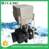 IP67 1 1/4  di valvola a sfera elettrica motorizzata Dn32 bidirezionale dell'azionatore del PVC di pollice UPVC