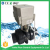 IP67 쌍방향 1개의 1/4의  인치 Dn32에 의하여 자동화되는 UPVC PVC 전기 액추에이터 공 벨브
