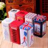 Caja a todo color de la lata del té para el estilo BRITÁNICO
