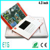 A5 Gruß-Karte der Broschüre-4.3 videodes zoll-TFT LCD, LCD-Videokarten, videobroschüre