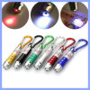 3 in 1 roter LED-Zeiger Carabiner Keychain Taschenlampe
