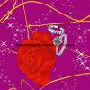 Disperse 100%Polyester счастливый Rose 3D напечатал ткань для комплекта постельных принадлежностей