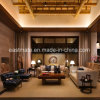 Jeu de sofa de salle de séjour d'hôtel de sofa en bois solide