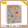 Motif papillon Kraft Magasin de vêtements de mode des sacs en papier cadeau