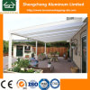 Tierras de Overkapping con el material para techos de aluminio del marco y del panel de la PC