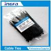 Relation étroite en plastique de fermeture éclair de serres-câble en nylon auto-bloqueurs noirs du nylon 66