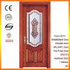 Porte intérieure de portes en bois solide avec la glace décorative