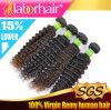 Estensione crespa Lbh 170 dei capelli umani di Remy del Virgin del brasiliano dell'arricciatura 100%
