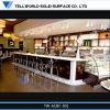 Bancadas comerciais de superfície contínuas acrílicas da barra de café da TW