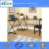 Glas und Metall L Form-Ecken-Computer-Schreibtisch, mehrfache Farben (Z160706-2F)