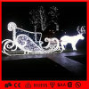 새로운 Products Christmas Animated 3D Sleigh Motif Light