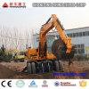 Escavatore cinese dell'escavatore della rotella di marca 12ton sulle rotelle