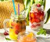 Beverage Mason Jar con tapa para el jugo de cristalería