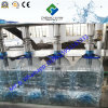 Capacidade pequena máquina de engarrafamento 5L da água que enxágua, do enchimento e tampar