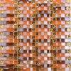 Material de construção banheiro colorido mosaico ondulada mosaico de vidro de arco-íris