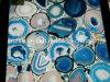 파란 마노 돌에 의하여 경작되는 대리석 식탁 대리석