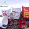 Einzelner doppel-wandiger heißer Kaffee trinkt Papiercup mit Plastikkappe