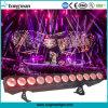 Indoor 12X25W RGBWA LED éclairage de scène de Lavage Laver la lumière