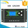 Controlador solar Z10 do Duplo-USB do luminoso Novo-PWM de 10AMP 12V/24V-Auto