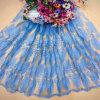 Polyester-heißes Verkaufs-Ineinander greifen Enbroidery Spitze-Gewebe für Kleid/Kleid