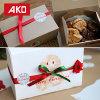 50pcs Feliz Navidad pegatinas de regalo bricolaje Manualidades de cocción de la panadería de embalaje de regalo