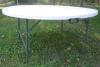 Hot vente Table ronde de pliage en plastique HDPE