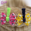 Polyester decorativo Ribbon Bow Hair Clip para Girls
