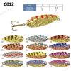 Cuiller colorée de pêche en métal de qualité