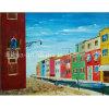 Pintado a mano Monet Bright House de Londres junto al río Pintura lienzo pintura de pared-110000 (izq.)