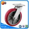 Industrielle Schwenker-Hochleistungsfußrolle mit Rad des Polyurethan-8 x 2