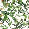 Grüner Blatt-Ansicht-Entwurfs-kundenspezifischer Schal 100%Silk