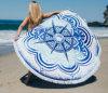 100%年の綿の円形のビーチタオル150*150cm/59*59の浴室タオルのふさの装飾の幾何学的な印刷された浴室タオル