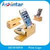 Hölzerner Telefon-Halter für iPhone aufladendock-Tischplattenhalter für Iwatch Standplatz-Halter