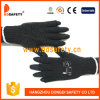 Gants 2017 de polyester de coton de Ddsafety avec de mini points de PVC de demi de noir de doigt