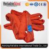Imbracatura rotonda della tessile infinita rossa del poliestere da 5 tonnellate
