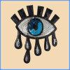 Paño directo de la tela del cequi del modelo de ojo del factor chino