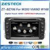 ベンツW203 Vianoのための2 DINのカーラジオDVD