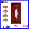 Porta de madeira barata do PVC do MDF com o painel da visão para o prédio de escritórios