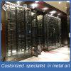 High-end Customized Antique Luxury Black Cellar Cabinet com Cooler