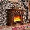 彫刻のホテルの家具LEDはつける電気暖炉(318SS)を