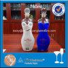 750ml abbastanza ha decorato la bottiglia di vetro a forma di corpo delle donne per vodka