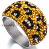 Nuevo anillo de compromiso de acero Cristal de Estilo