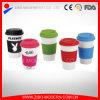 Tazza di caffè di ceramica su ordinazione poco costosa all'ingrosso con il coperchio del silicone