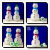 980ml Snowman Glass Gift Jars with Glass Lids