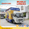 Cinéma 7D mobile de camion de divertissement d'affaires de Guangzhou de camion mobile du cinéma 5D
