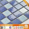 Mezcla de color azul piscina, cocina pared mosaico de porcelana (C648060)