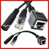Poe Splitter Cable con Cat5 Female Cable y C.C. Power Cord y Poe Cable