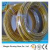 Tuyau hydraulique à haute pression flexible tressé de fil d'acier